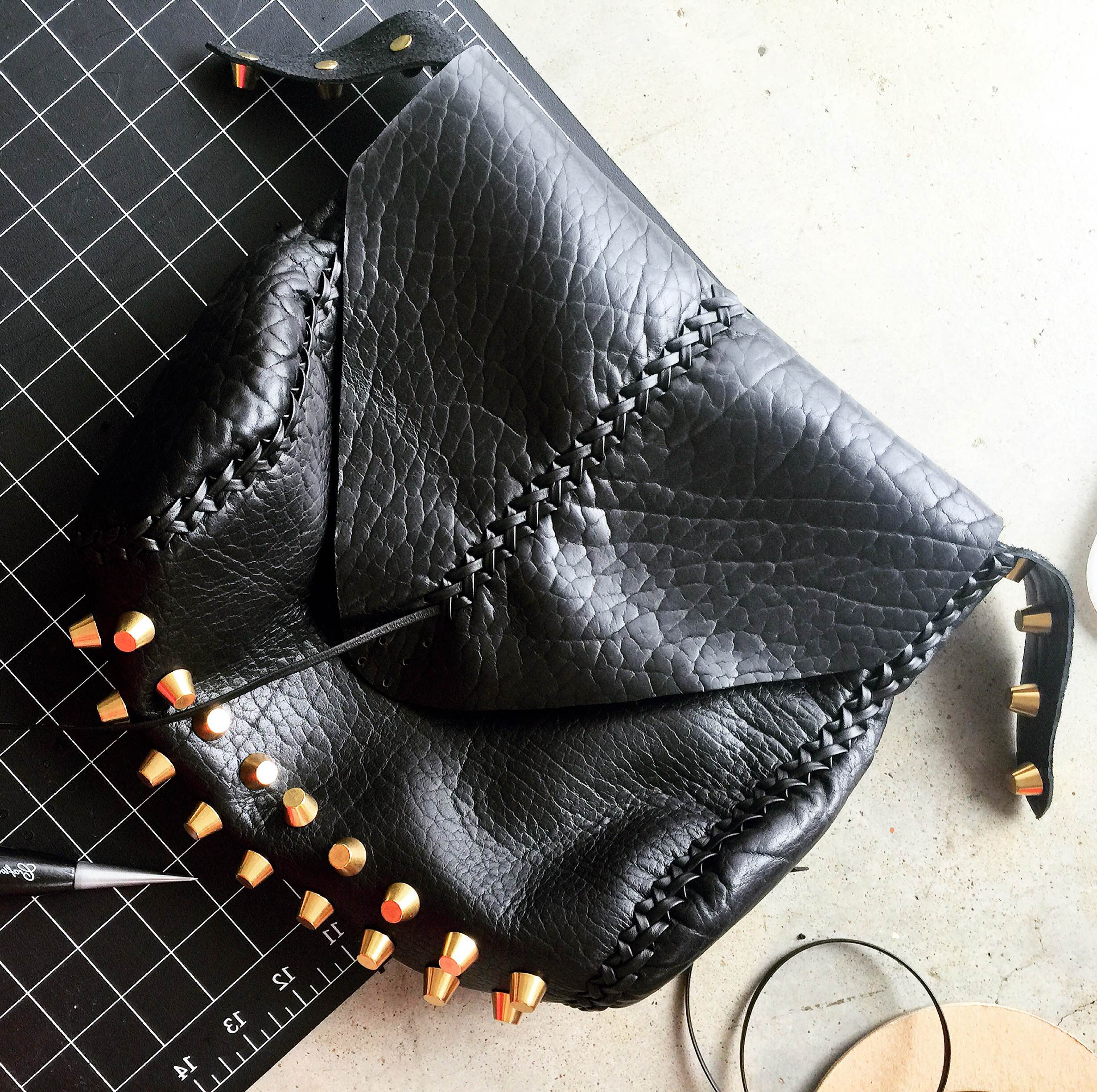 Jessy Made Leather Clutch