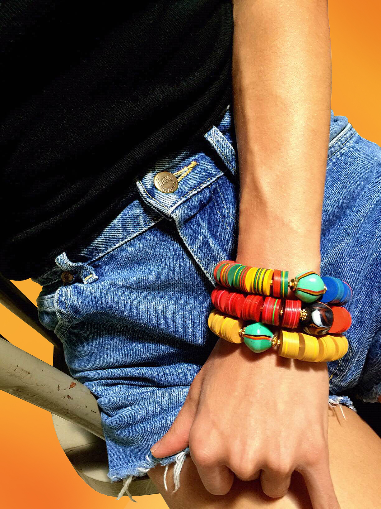 Jessy Made Stacked Vinyl Bracelets