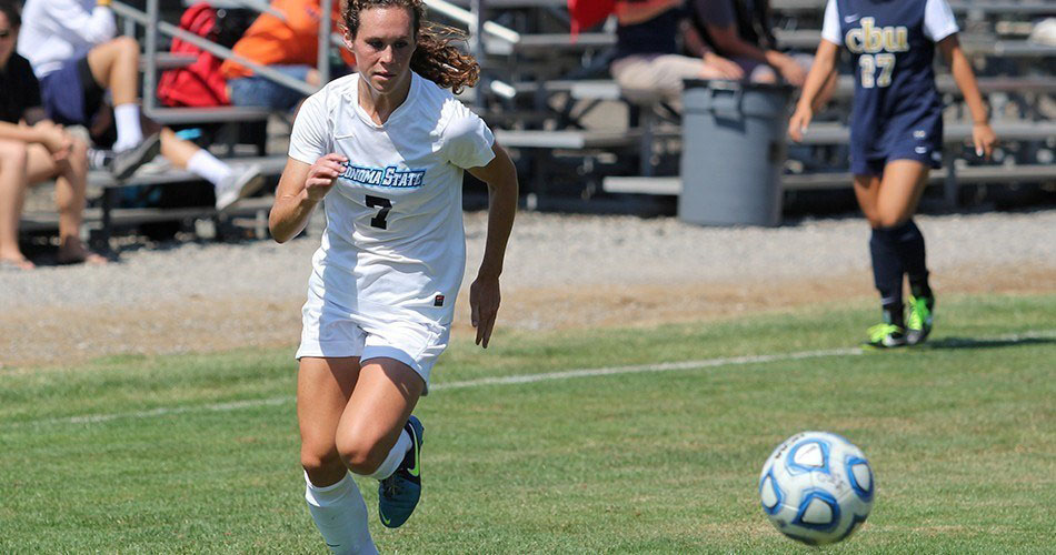 COURTESY // SSU Athletics   Lauren Curtin scored all three goals in last week's victory over UCSC.