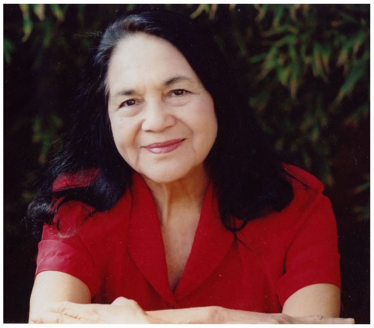 flickr.com   Dolores Huerta has been involved in the plitical scene for most of her life.