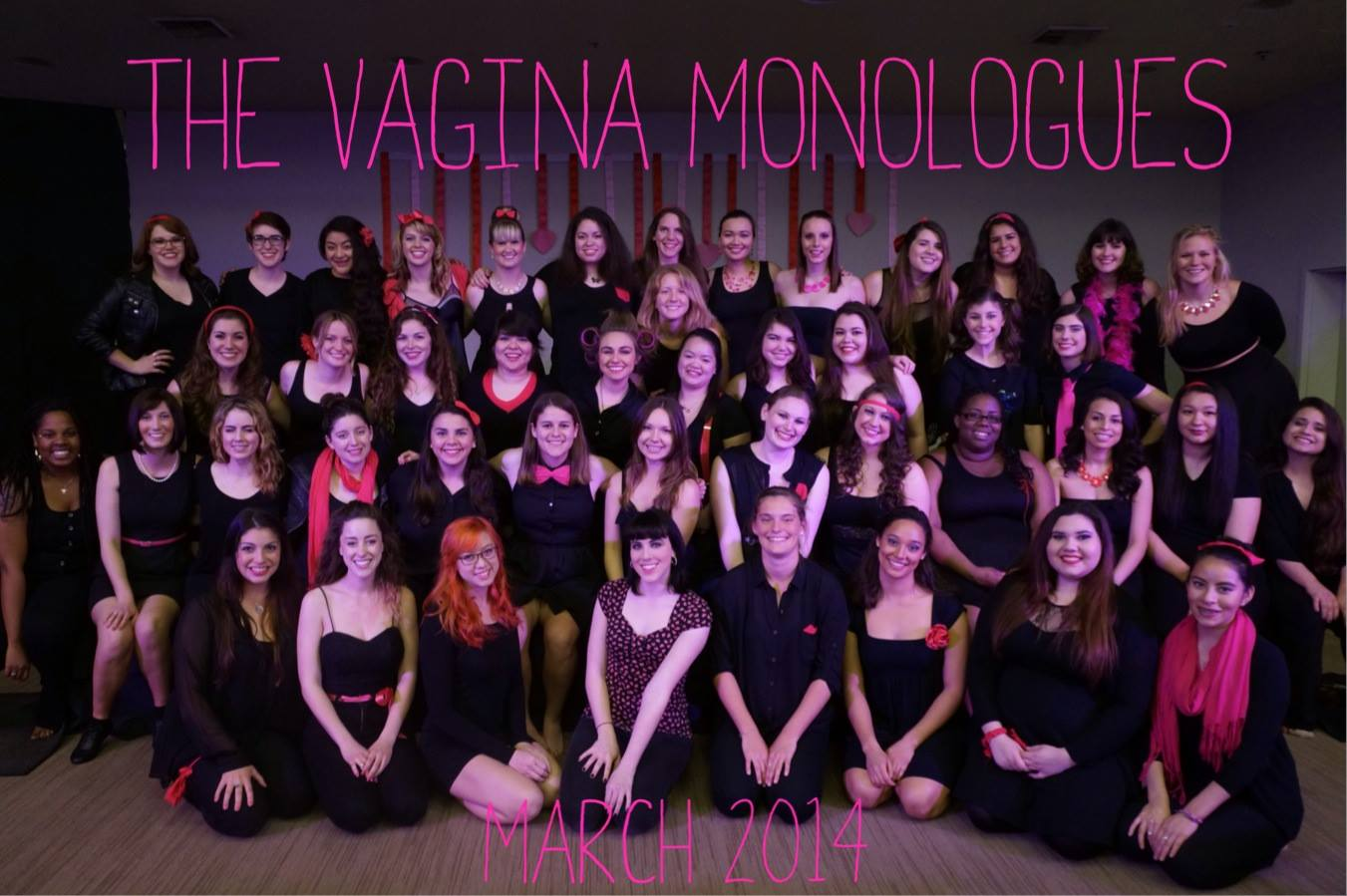 facebook.com   The cast for Sonoma State's 'The Vagina Monologues' 2014.