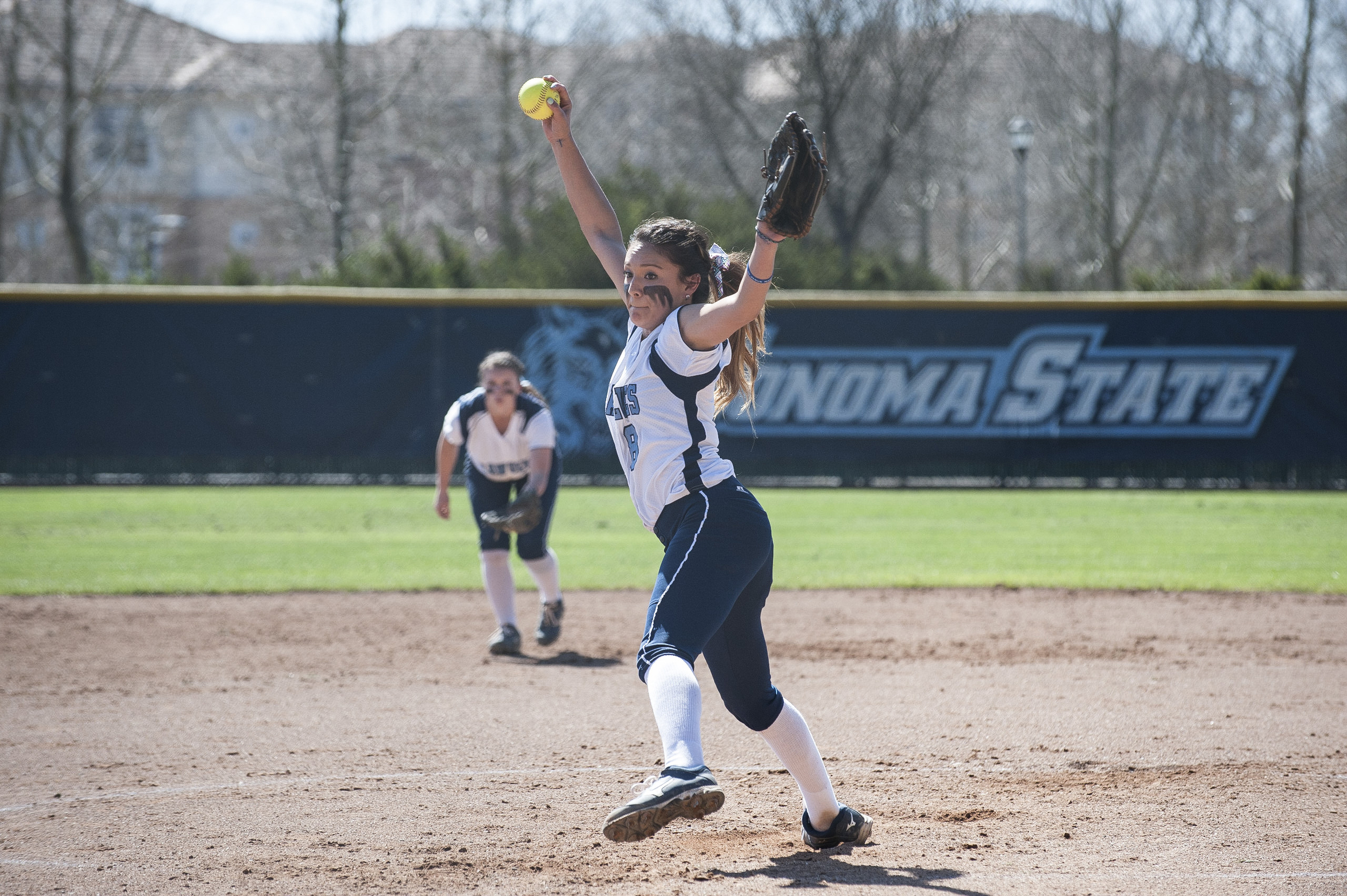 STAR // Connor Gibson   Sophomore Amanda Llerena threw more than 17 innings and only gave up four earned runs.