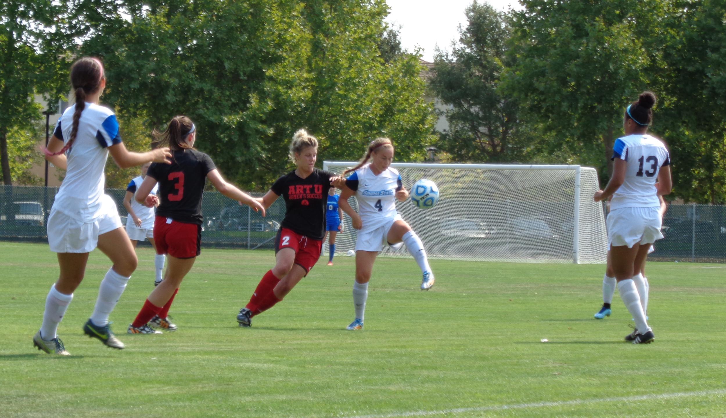 STAR // Jon Cappetta   Women's soccer improved their record 6-0-0.