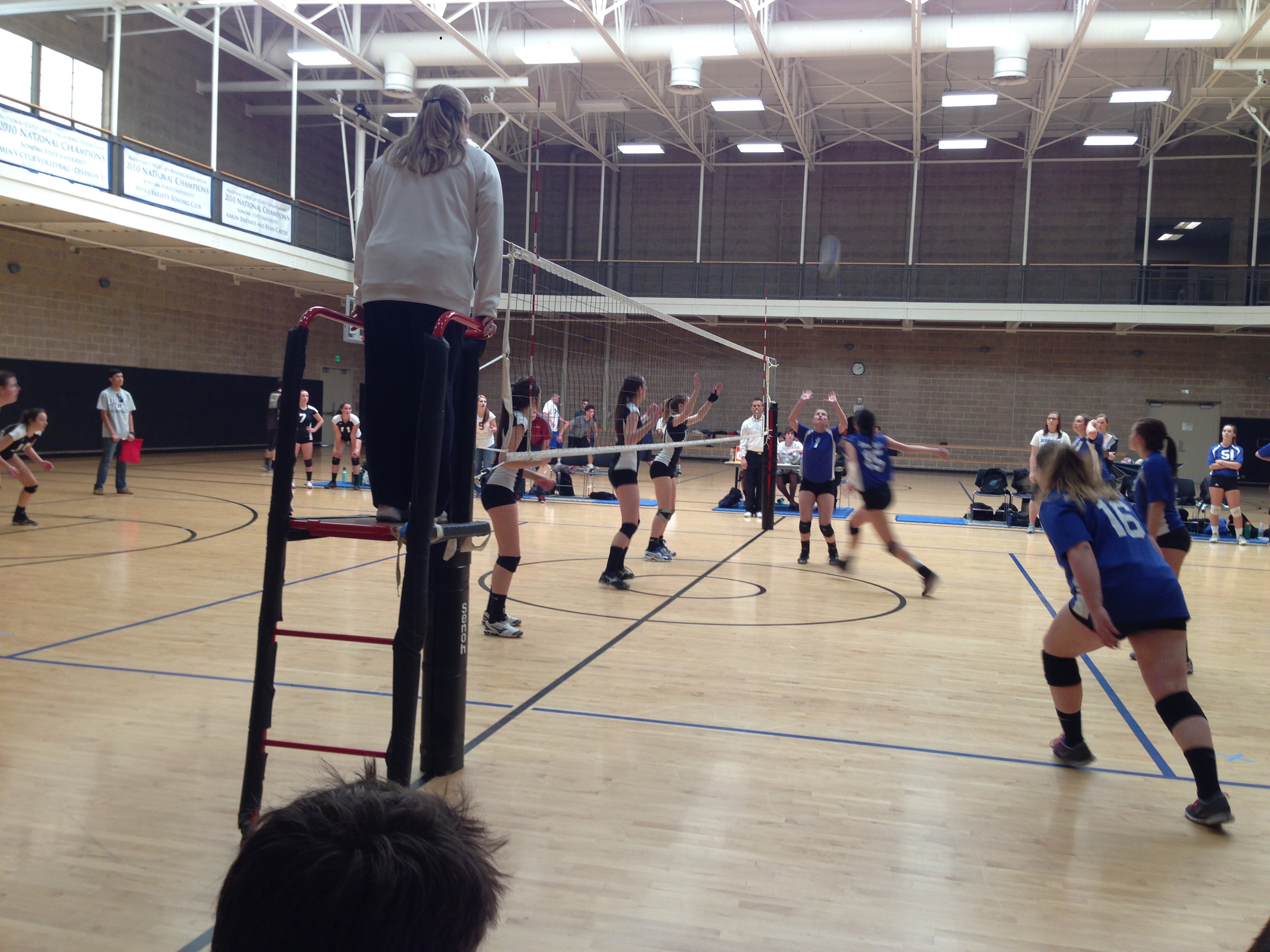 STAR // Halia Daughtery   Despite a team injury, club volleyball won 3-2 against the Wildcats.