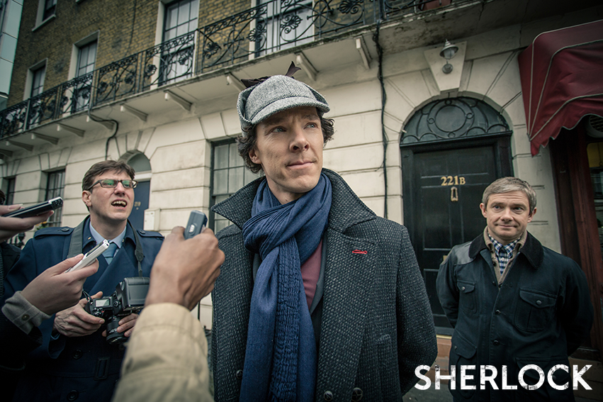 facebook.com   Sherlock Holmes (Benedict Cumberbatch) and John Watson (Martin Freeman) return for the third series of 'Sherlock.'