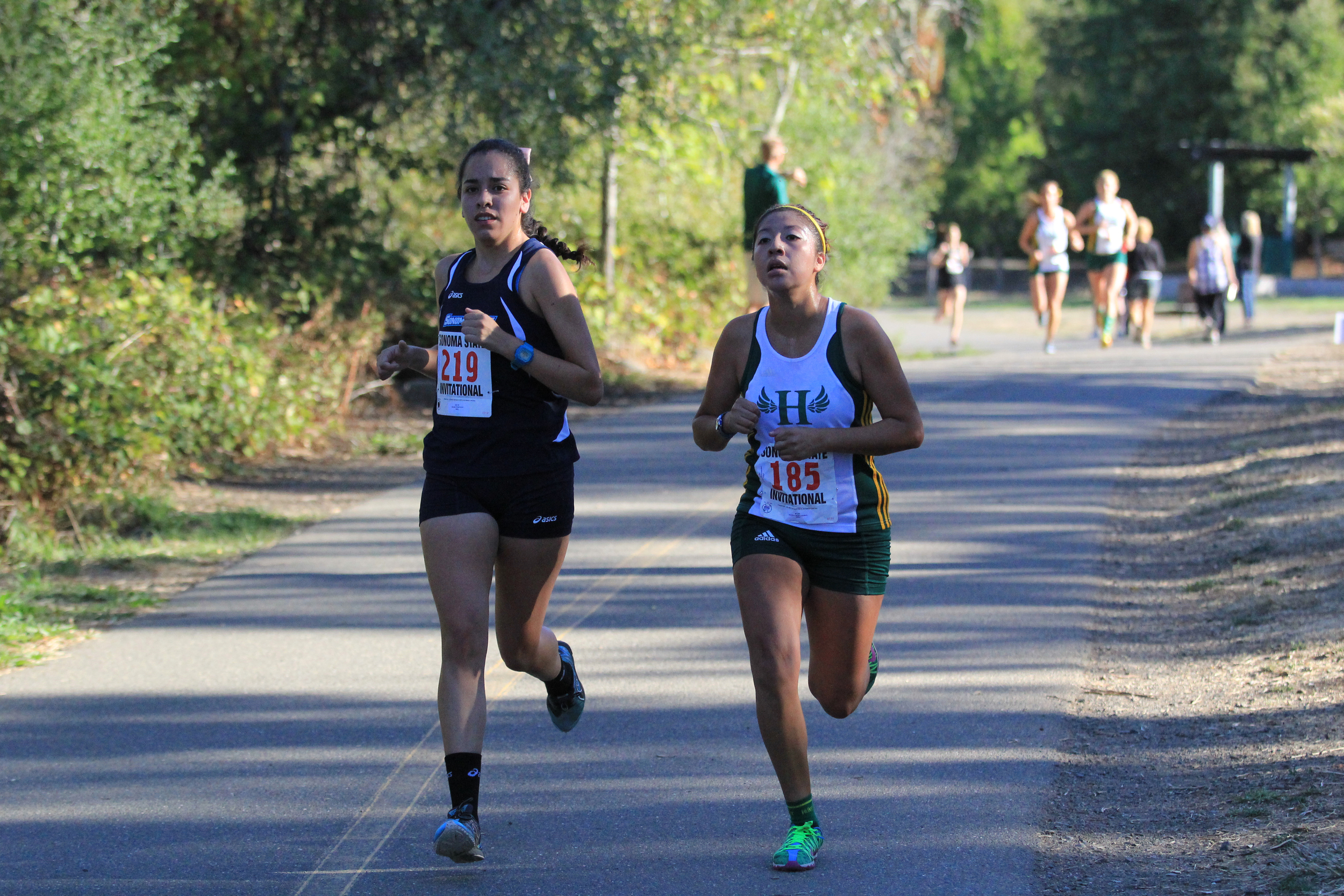COURTESY // SSU Athletics   Left, Maria Hurtado was the first Seawolf to cross the finish line.