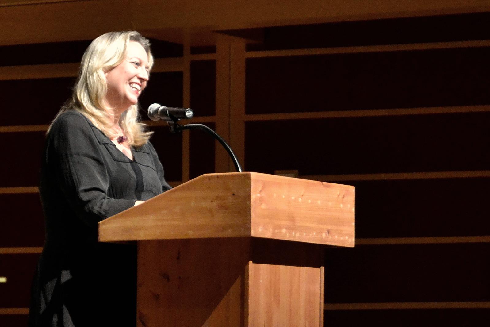 "STAR // Lina Raffaelli    Author Cheryl Strayed spoke at the Green Music Center about her best-selling memoir ""Wild."""