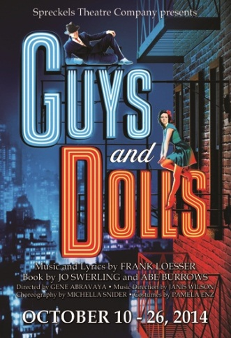 """COURTESY // Spreckels Theatre   """"Guys and Dolls: A Musical Fable about Broadway"""" was performed at Spreckels Theatre Company in Rohnert Park last weekend."""