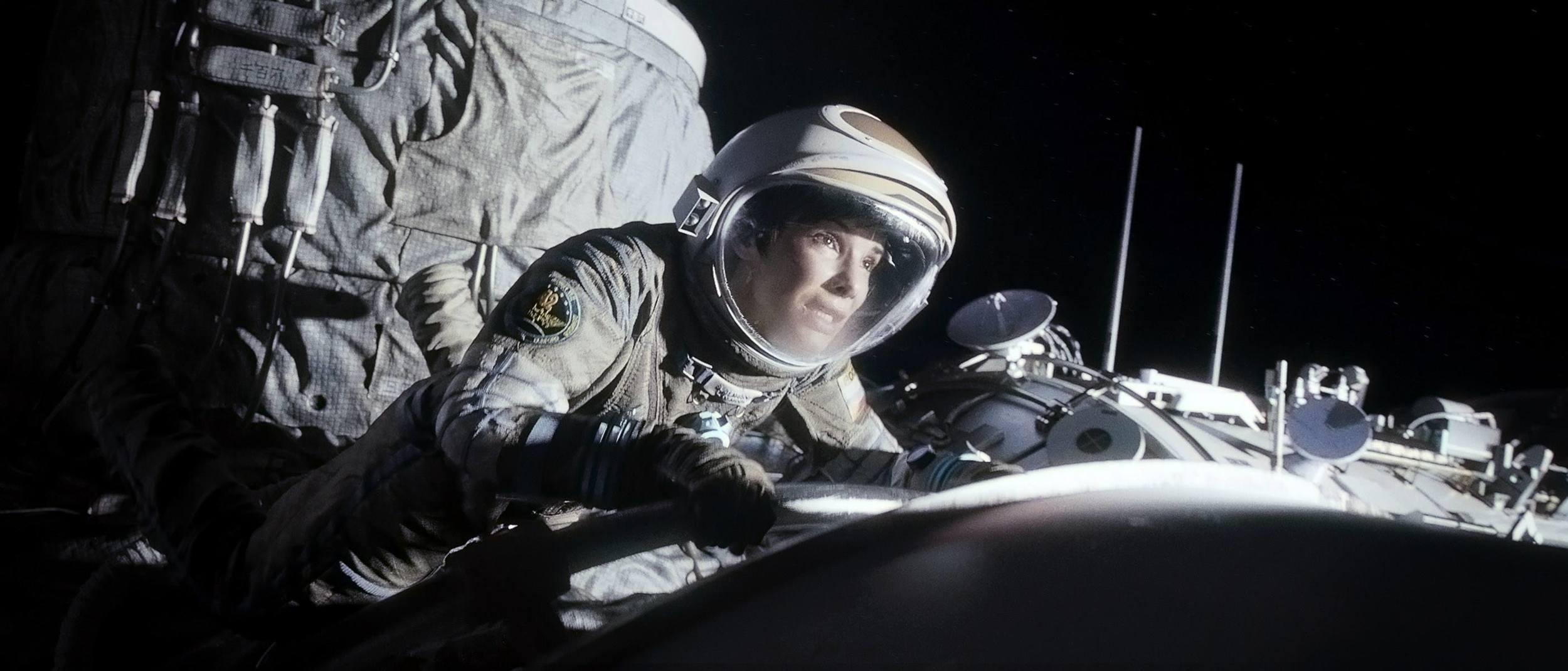 "facebook.com    Sandra Bullock stars as astronaut Dr. Ryan Stone in the science-fiction thriller ""Gravity."""
