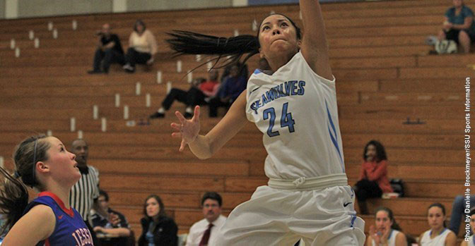 COURTESY // SSU Athletics   New player Leeana Bade scored 14 points in Friday's exhibition.