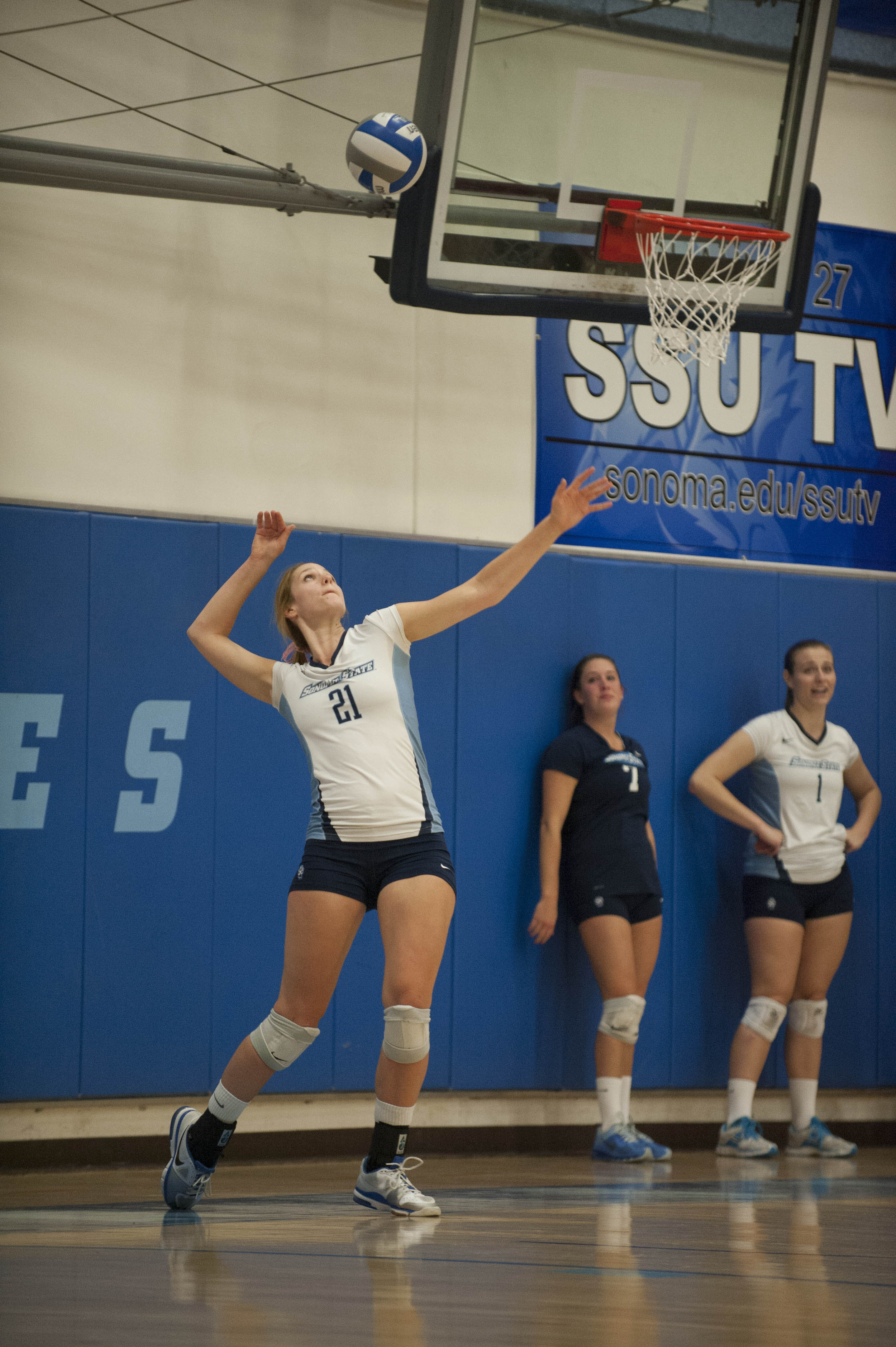 STAR // Connor Gibson    Seawolves conquered Stanislaus 25-9 and beat rival Chico 25-21 in their last sets.