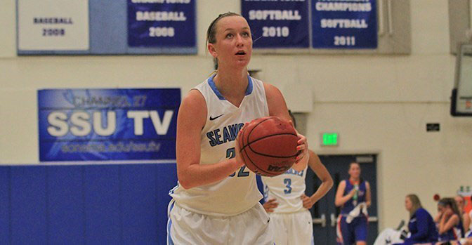 COURTESY // SSU Athletics   Hannah Sourek scored 15 points in Friday's loss against the UC Davis Aggies.