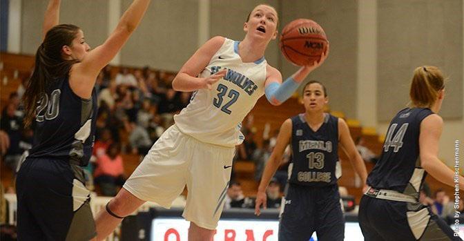COURTESY // SSU Athletics   Hannah Sourek scored 12 points in the game against Menlo.