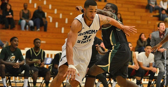 sonomaseawolves.com   Senior J.J. Mina lead the team over CSU San Bernardino with 21 points and seven rebounds,