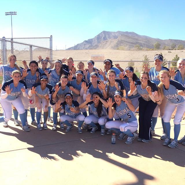 facebook.com  The team poses after going 5-0 in the Desert Stinger Tournament in Las Vegas, Nev.