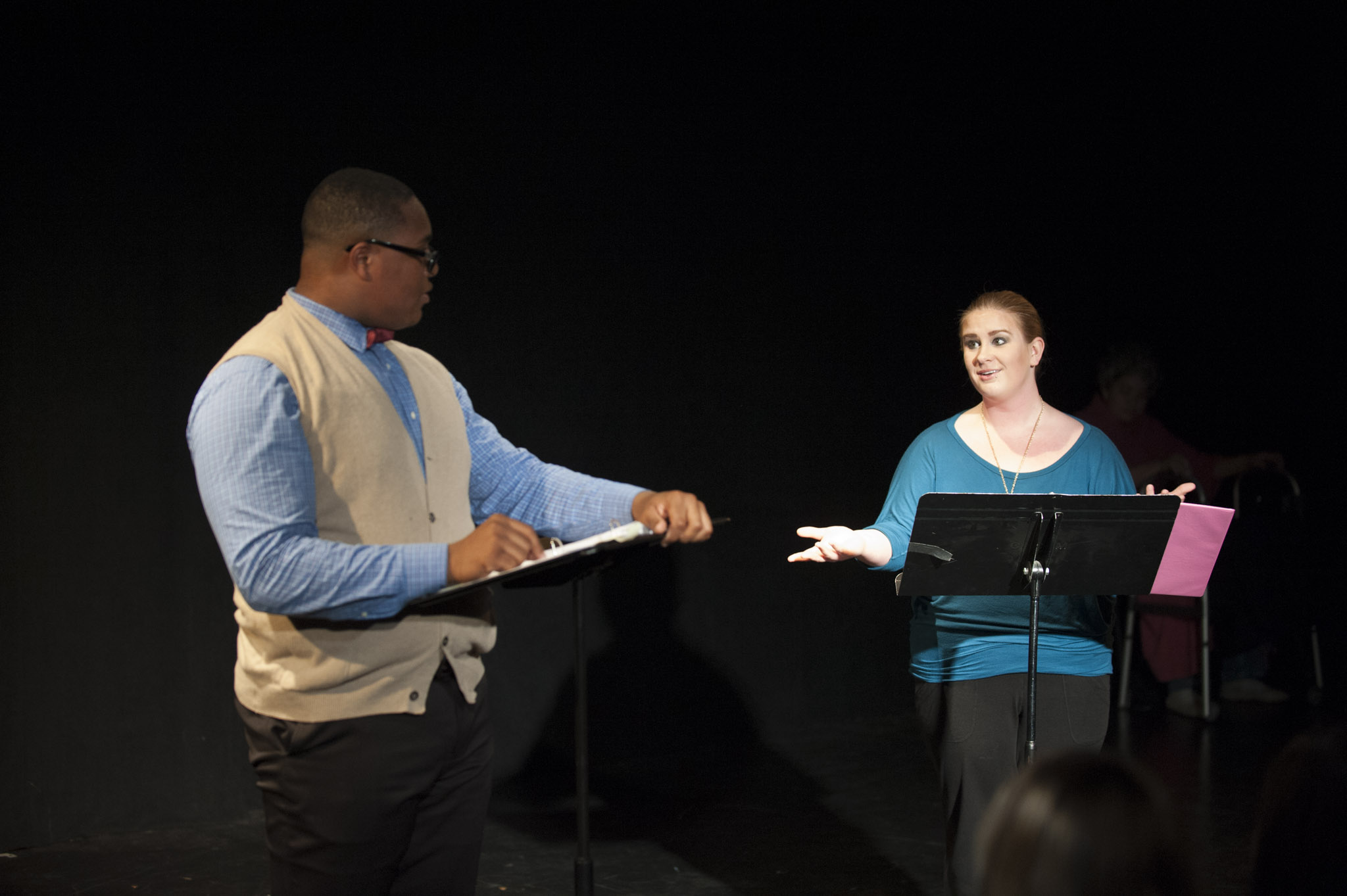 """STAR // Connor Gibson   Performers from the """"Facing Our Truth"""" readings took roles of everyday member of our society and re-enacted scenarios in which race and privilege is tested."""