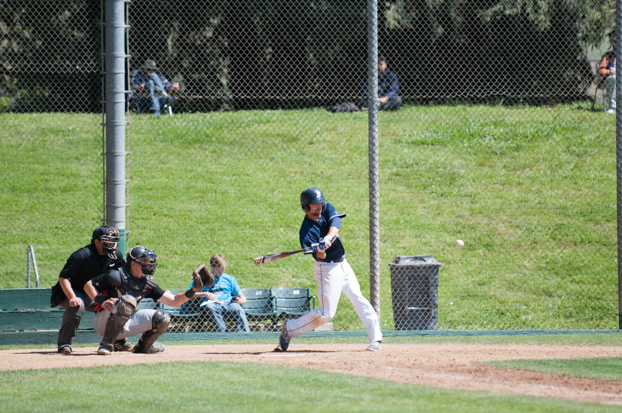 STAR // Connor Gibson   Senior infielder Jourdan Weiks at the plate moments before making contact.