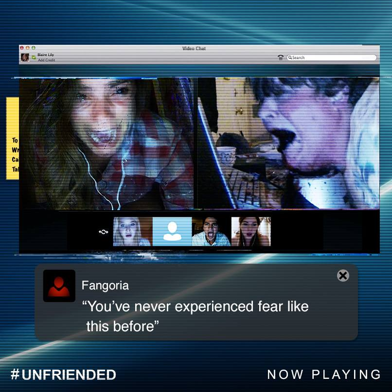 "facebook.com   ""Unfriended"" is shown entirely through the view of a computer screen."