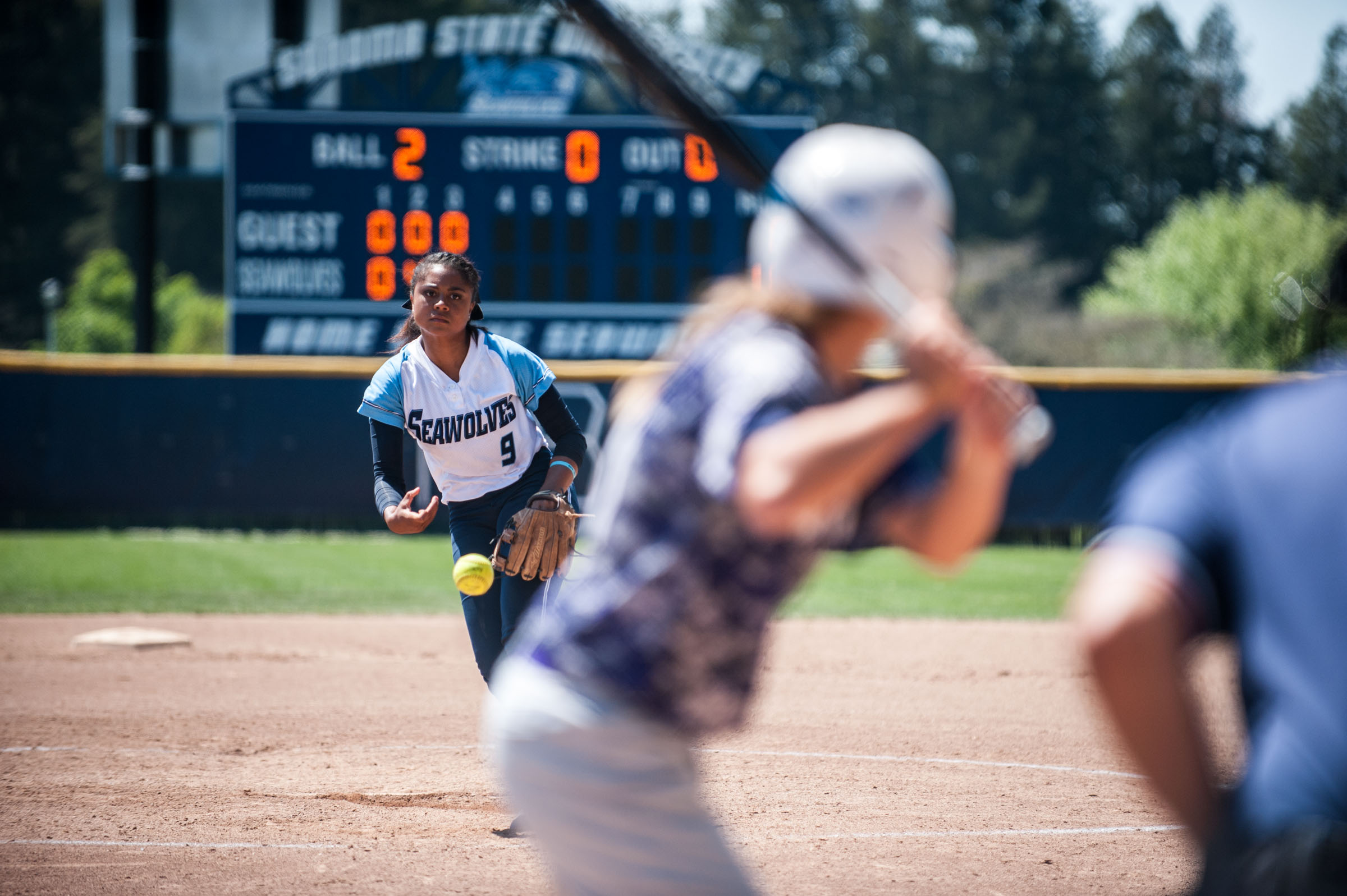 STAR // Connor Gibson   The softball team showed great offense, defense and pitching in their final games at home by scoring 25 runs to just one run over two games.
