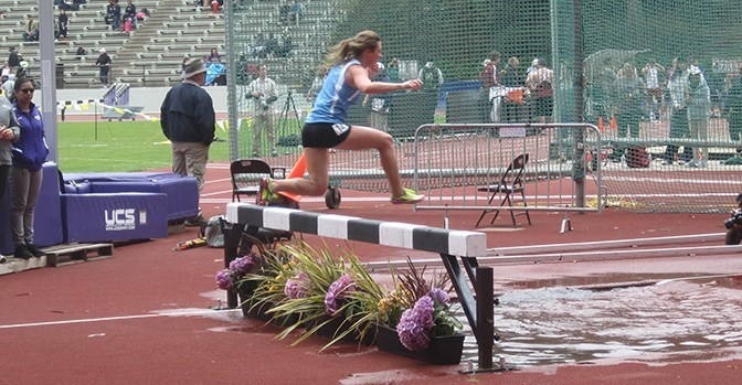 sonomaseawolves.com   Tori Dwyer ran her third-best time of the 2015 season in the 3,000 meter steeplechase in the CCAA championships.