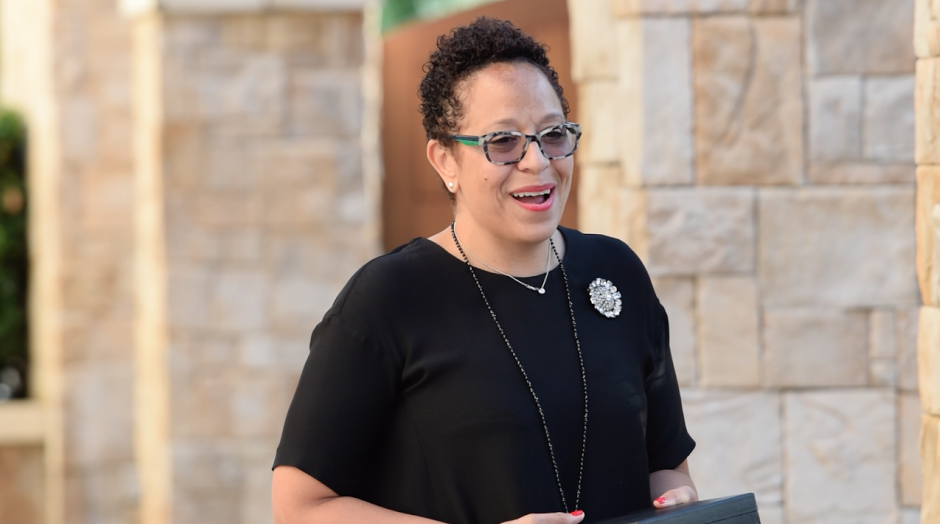 Courtesy // Sonoma State University Affairs Division Sonoma State University alumna Sandra Jackson-Dumont was honored with the Distinguished Alumni Award on Thursday.