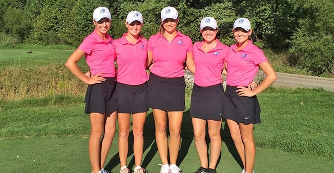 The women's golf team finished seventh at the UIndy Fall Invitational.
