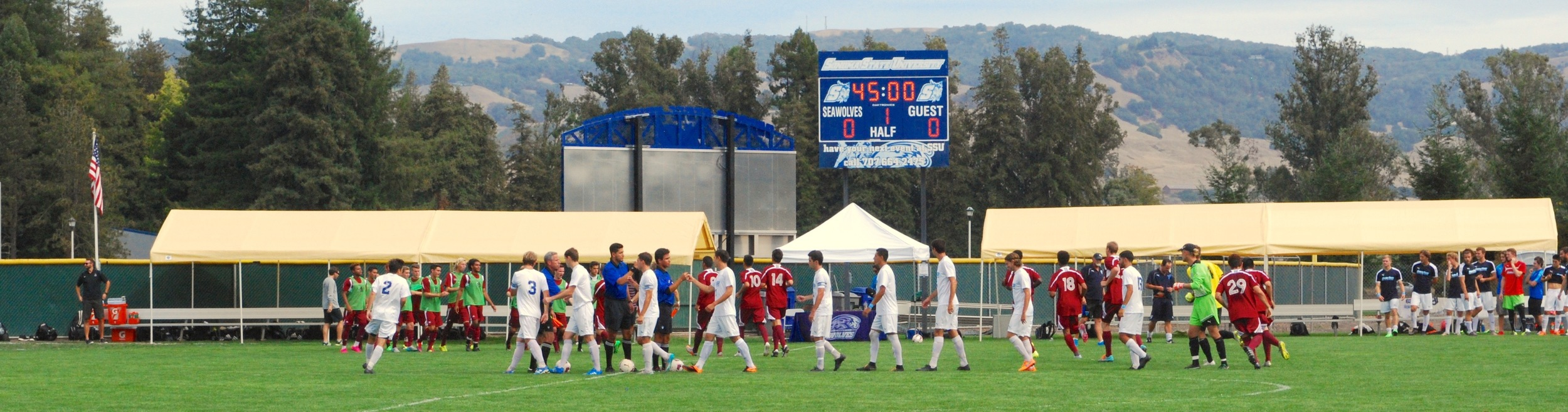 The score remained tied at the end of the first half before the Seawolves took charge and scored two goals to defeat the rival Wildcats.