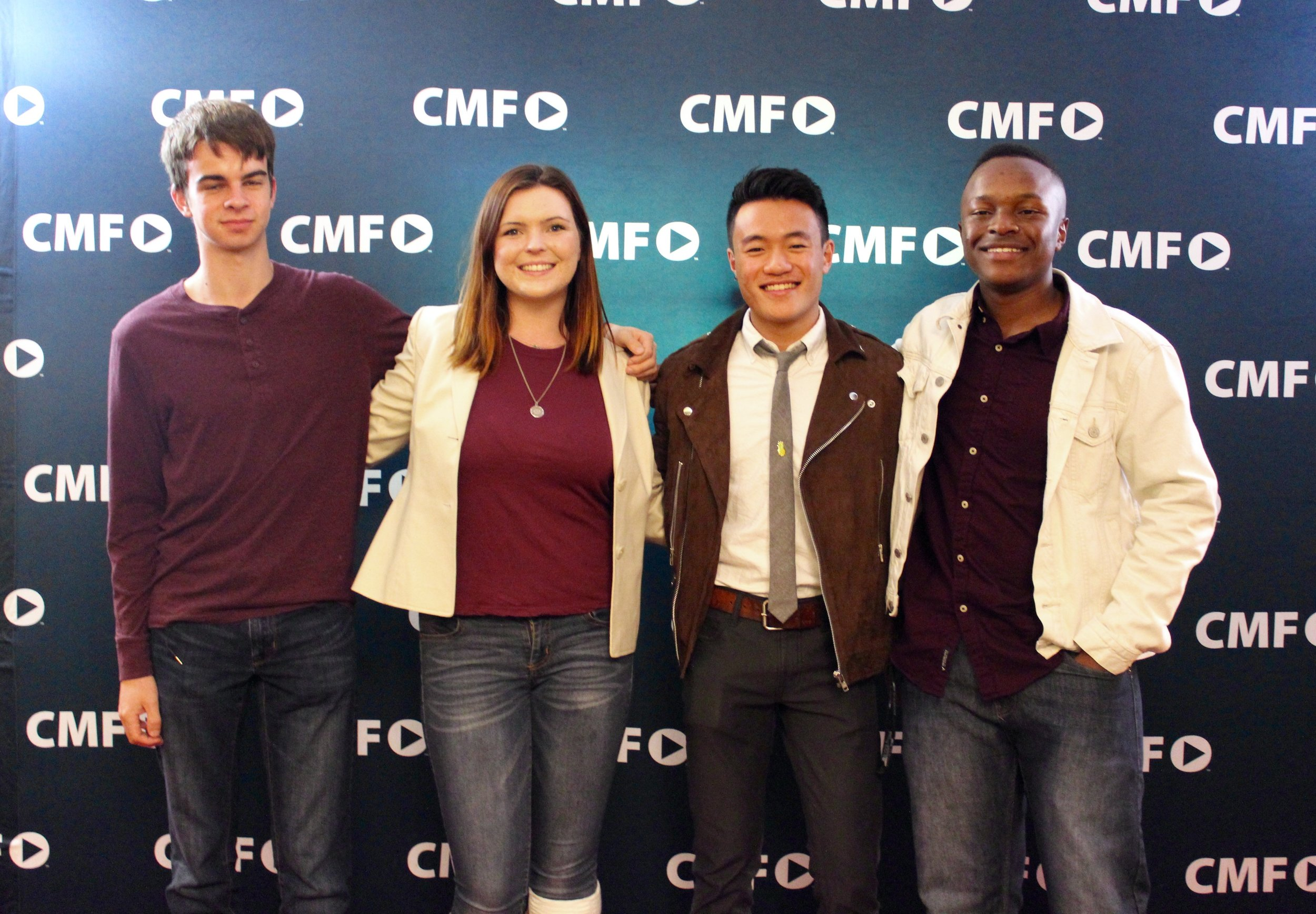 STAR // Nicky Homen  Contestants Adam Holm, Becca Garner, Jason Gorelick and James D'Haiti took the red carpet before Campus Movie Fest began Thursday night.