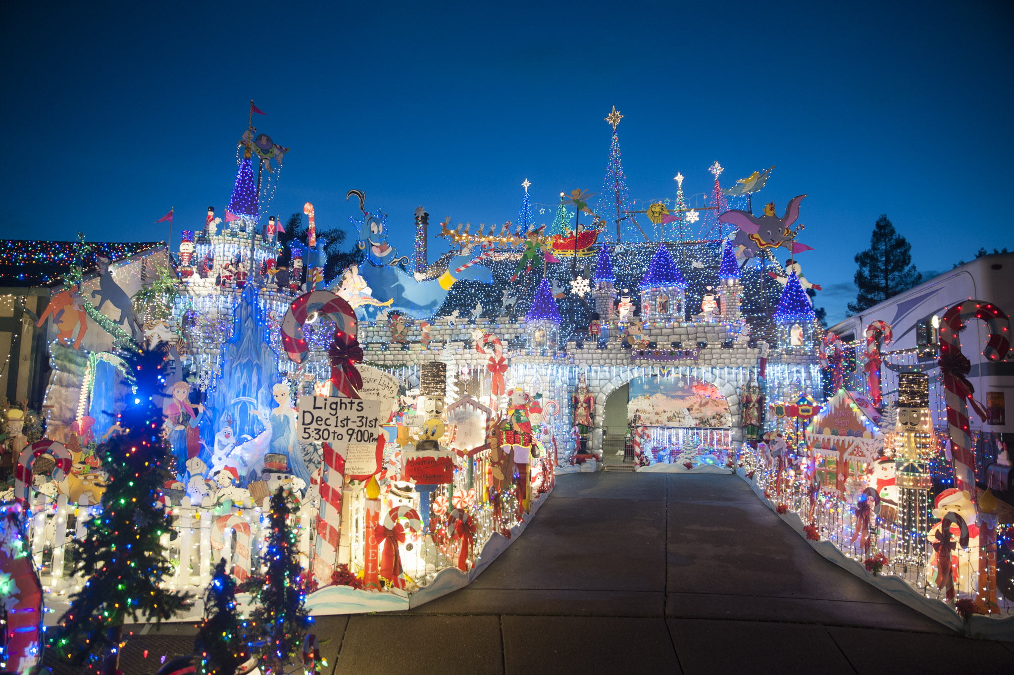 San Jose Christmas Lights.Local Annual Christmas Spectacle Ends 22 Year Run Sonoma