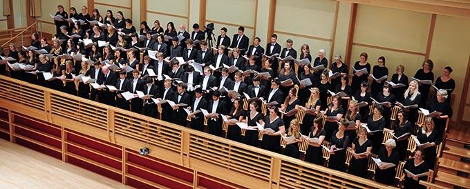 Sonoma State Symphonic Chorus. Courtesy of Sonoma State Music Department.