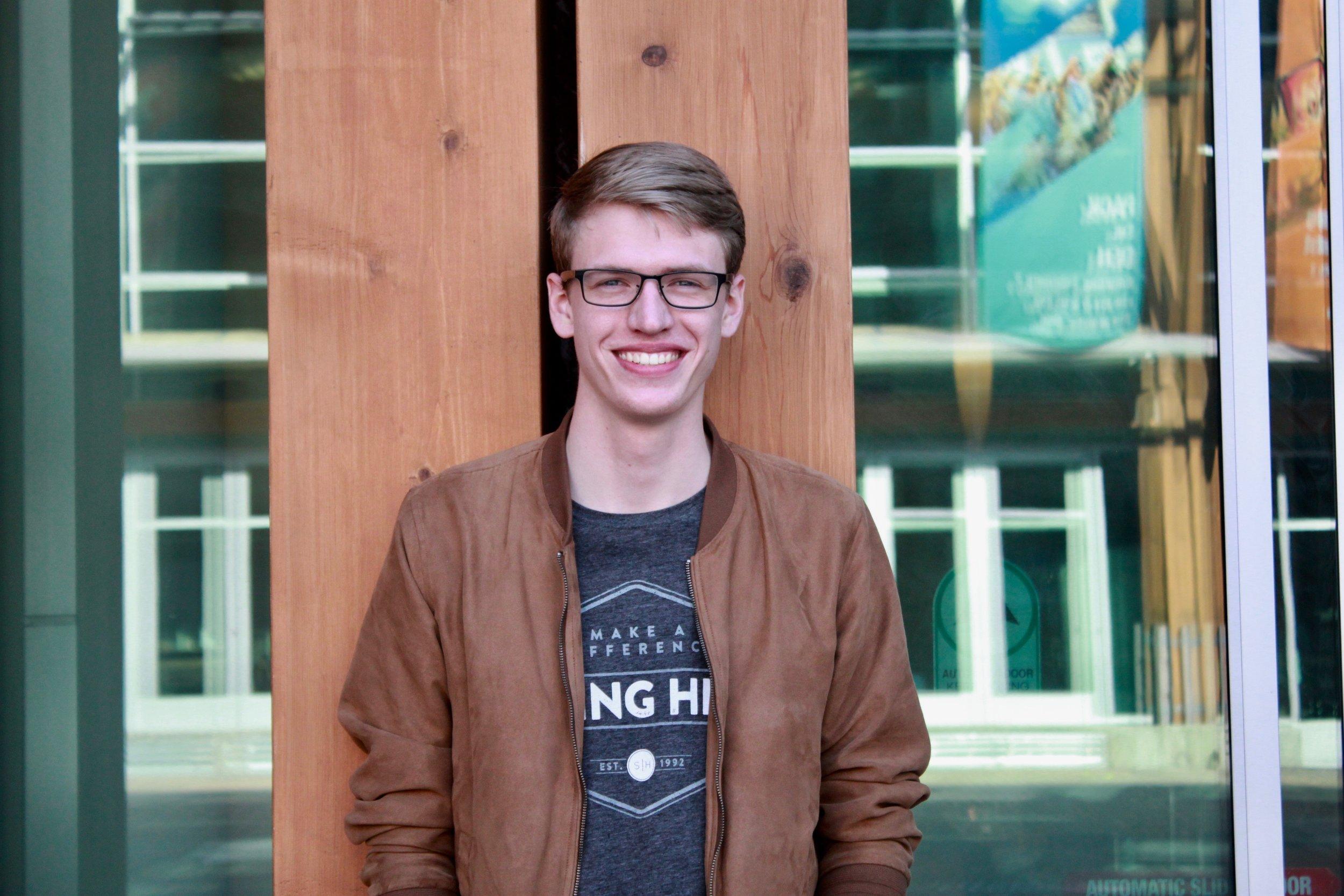 Junior Communications major and filmmaker Ryan Harvey.