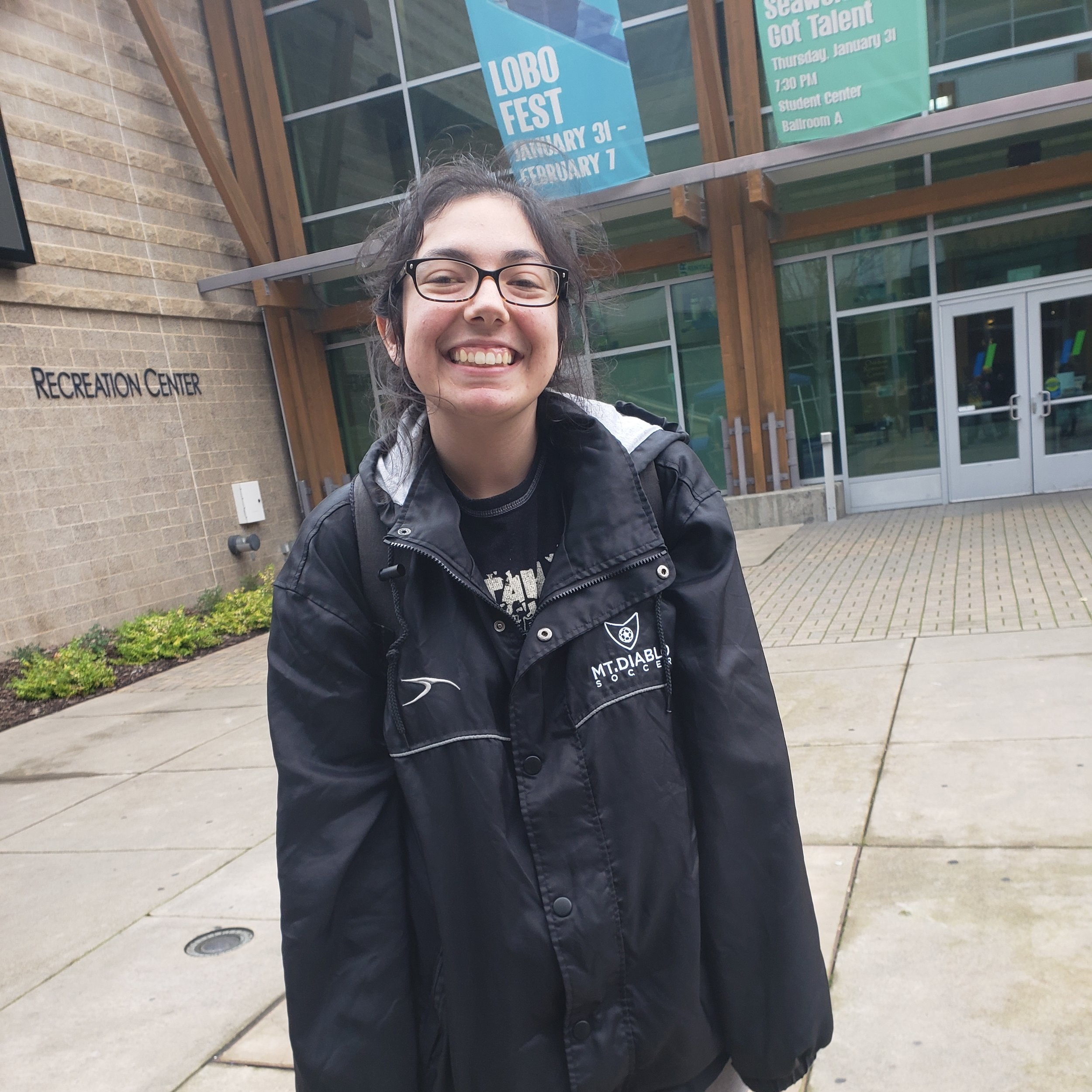 """""""I walk to class. I don't really do anything. I'm very non-physical""""     -Julia Healy, Early Childhood Development major"""