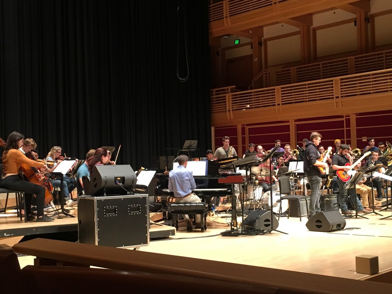 """Sonoma State University Jazz Orchestra rehearsing Fall semester for """"Rock, Strings & Horns - A Concert For Violet."""" STAR // Alison Snider"""