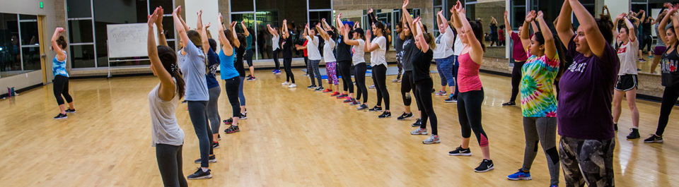 COURTESY// Sonoma State University   Students participate in an InMotion class offered at the Recreation center on campus, Monday through Thrusday.