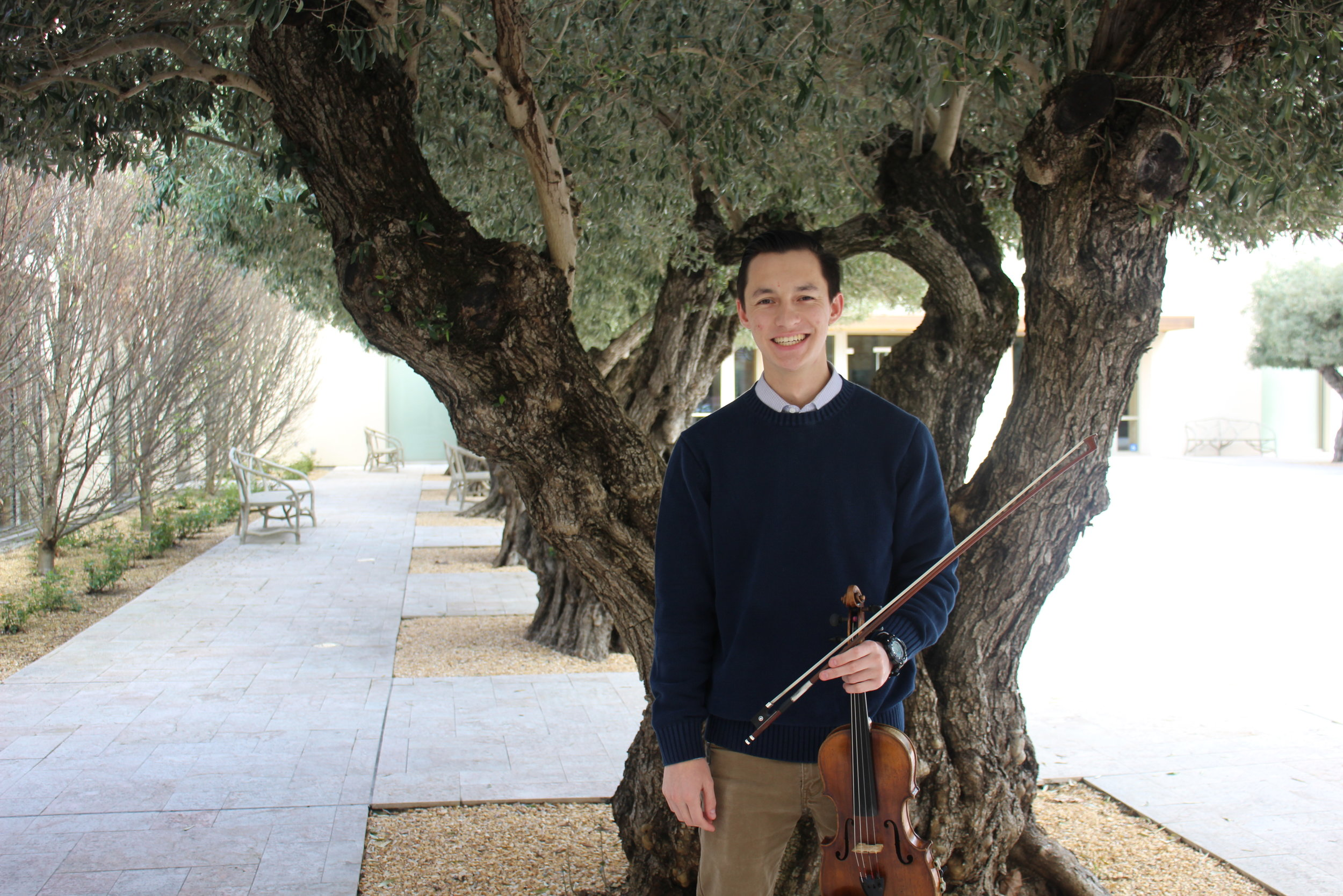 Senior Music Education major and violinist Caleb Forschen will be performing his senior recital on April 10. STAR // Emily Kowalski