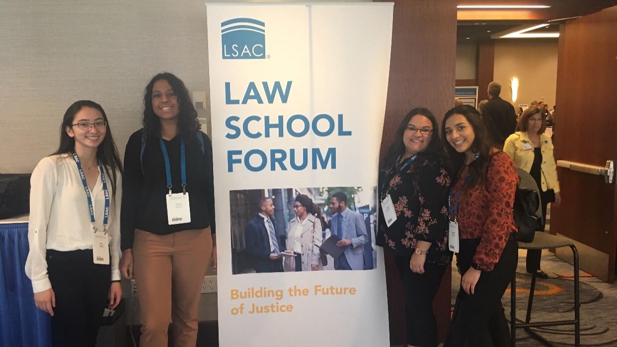 COURTESY // Sonoma State University's Pre-Law Society   Members of the Pre-Law Society at the Law School Forum in San Francisco.
