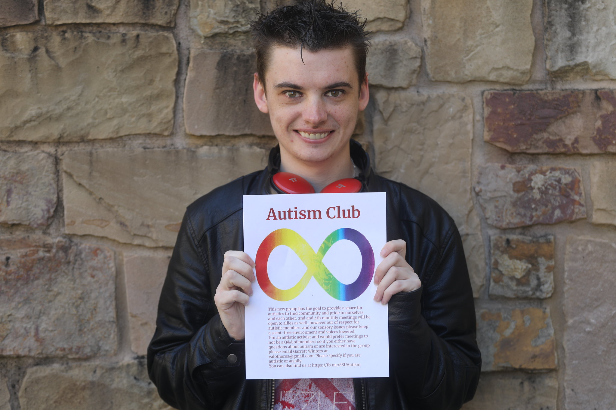 Garrett Winters, above, will be leading the club, which will meet once per week, in hopes of spreading awareness and inclusivity for those with autism.