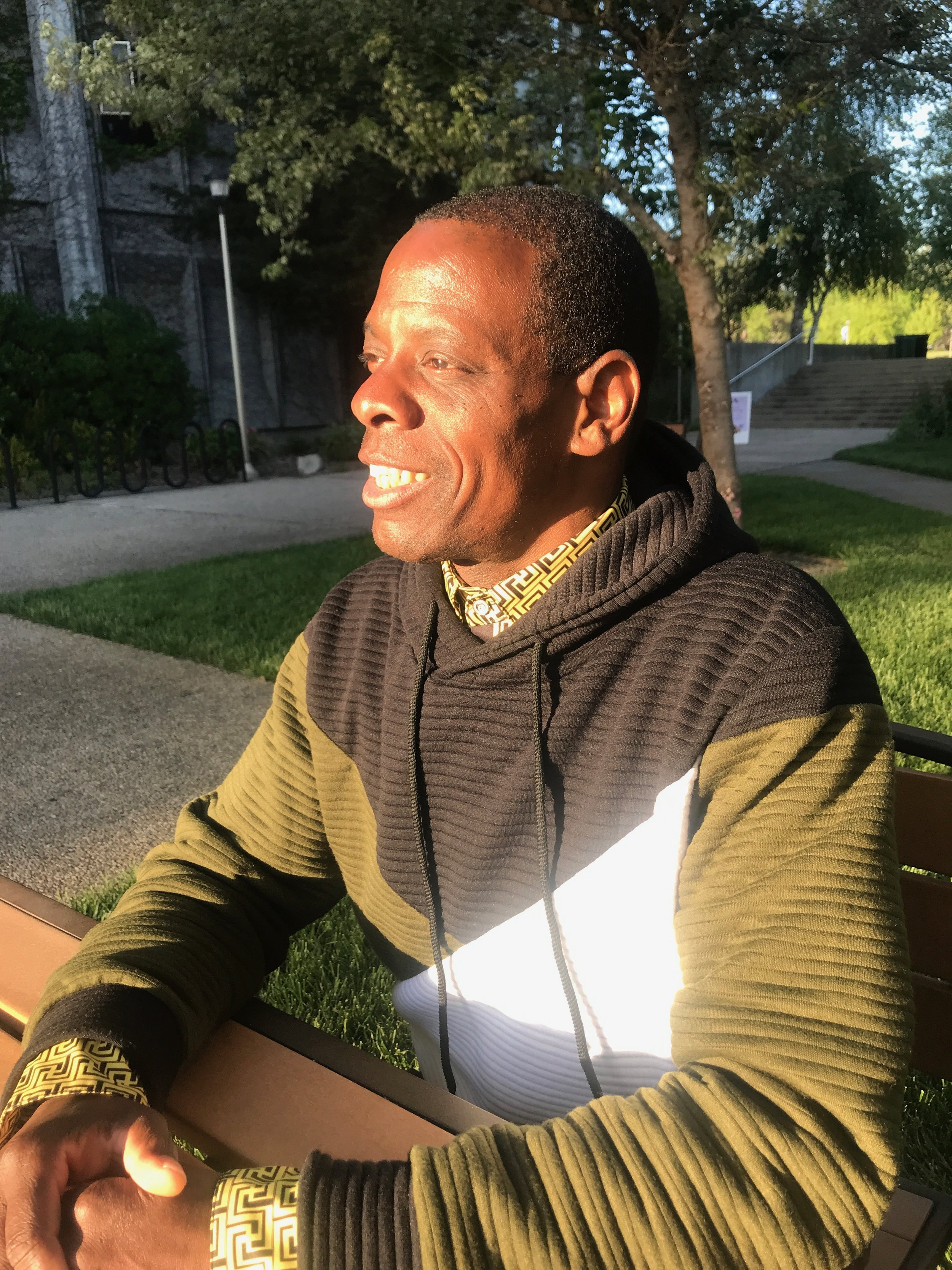 Bradford Haith Jr., seen above, has been walking for the past 13 years, often refusing rides along the way.