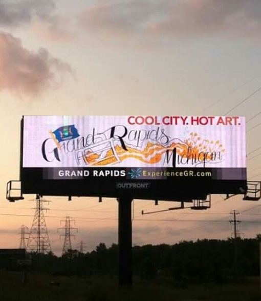 billboard design! displayed summer/fall of 2015 for ExperienceGR!