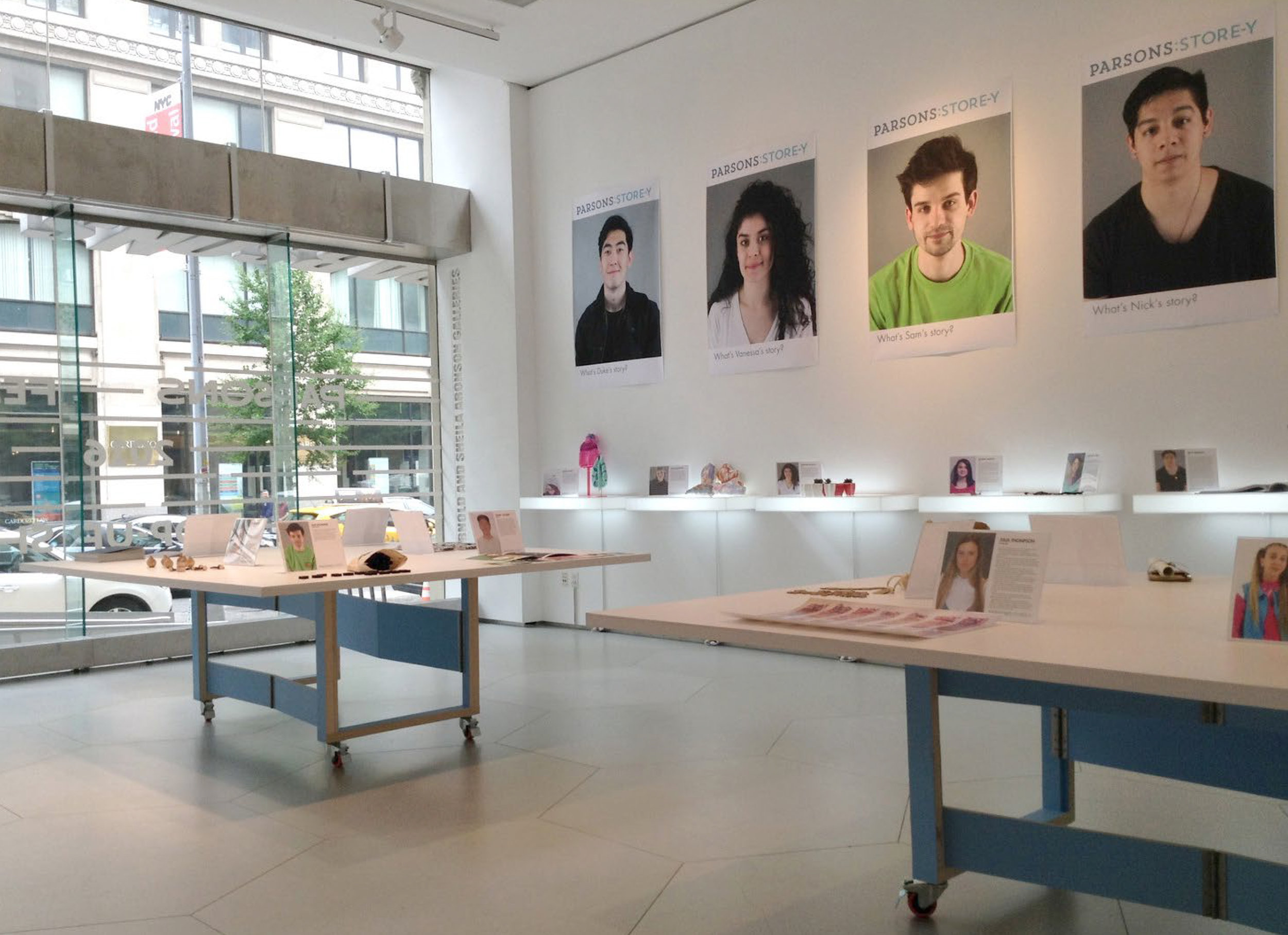 Parsons Store-y pop-up experience -