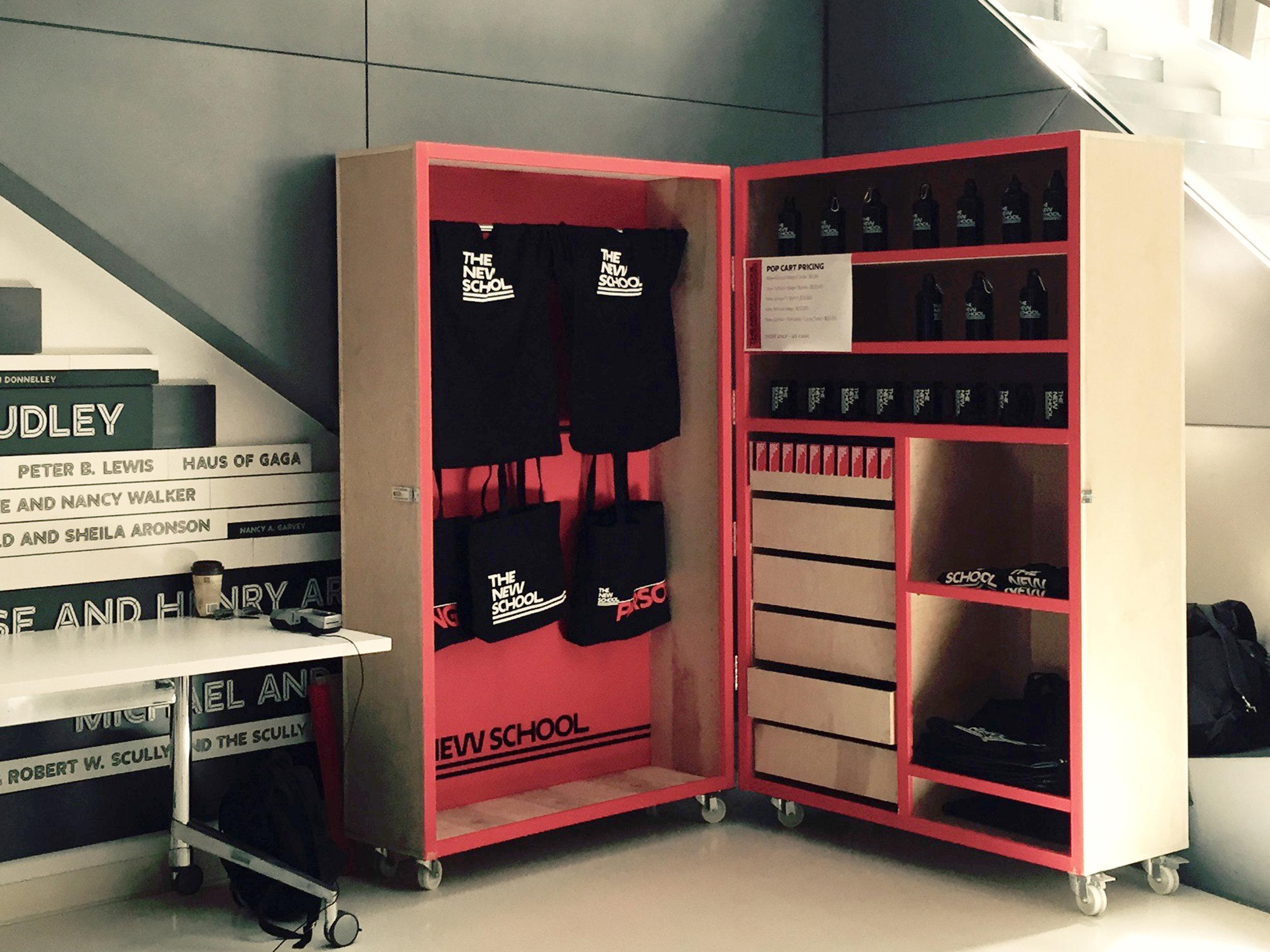 New School Store pop-up cart -