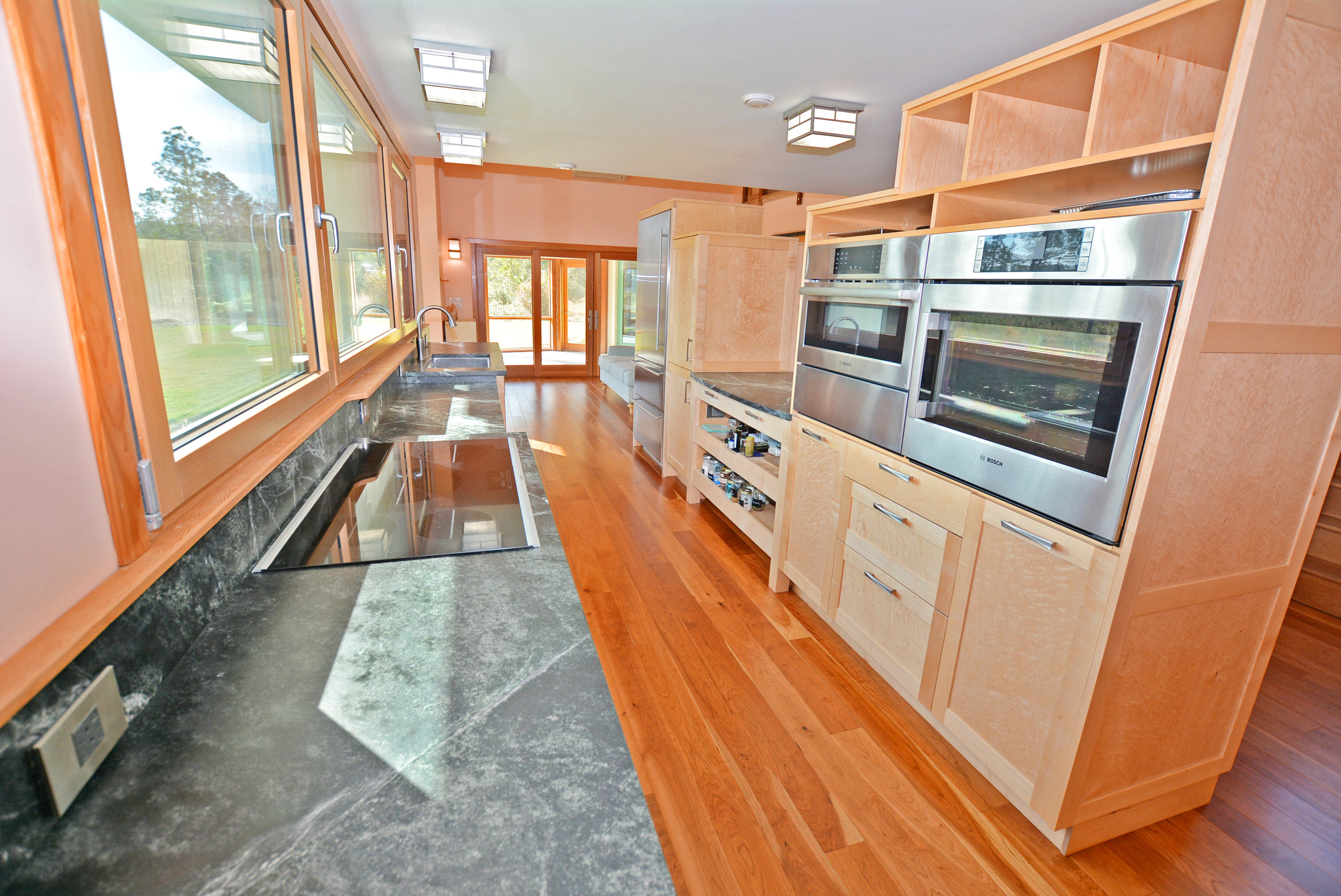 The main part of the kitchen.