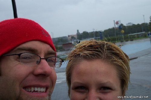 Arrived in Finland to a downpour and bad selfies.