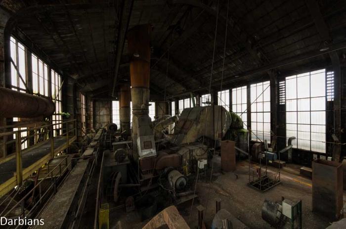 Abandoned Blue Power Station
