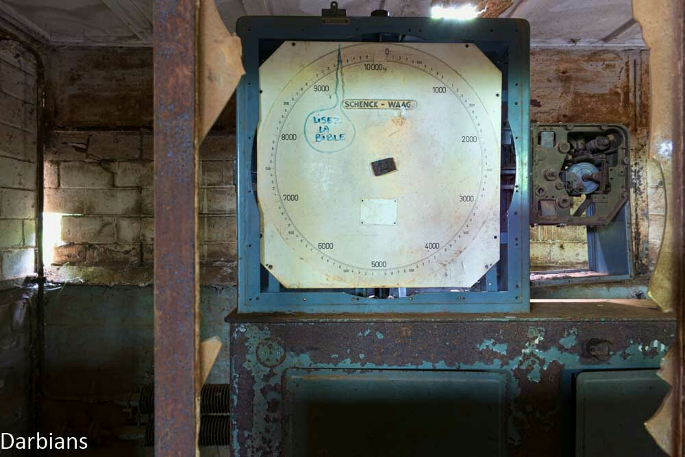A large dial found at the remains of an abandoned blast furnace in Luxembourg