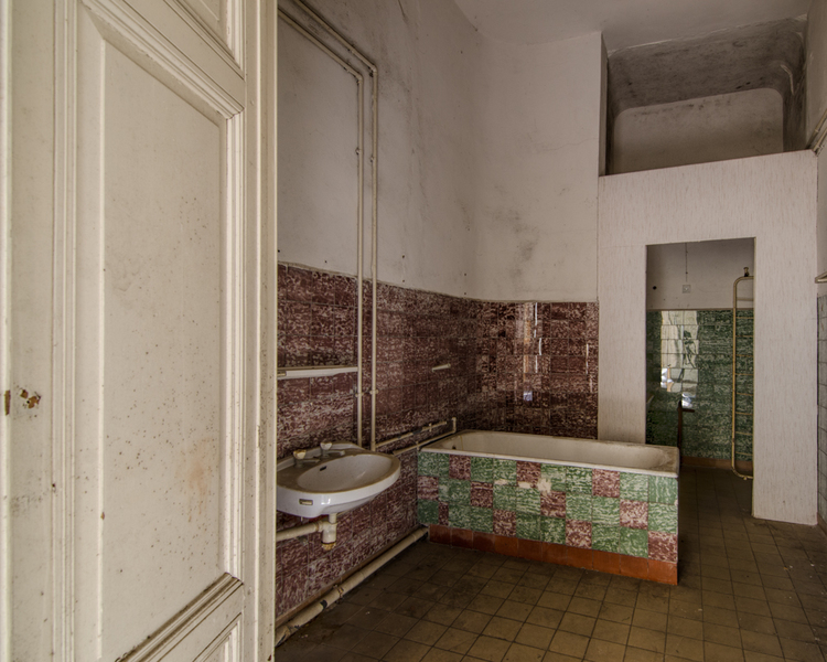 Crazy colour scheme in this abandoned care home in Germany.