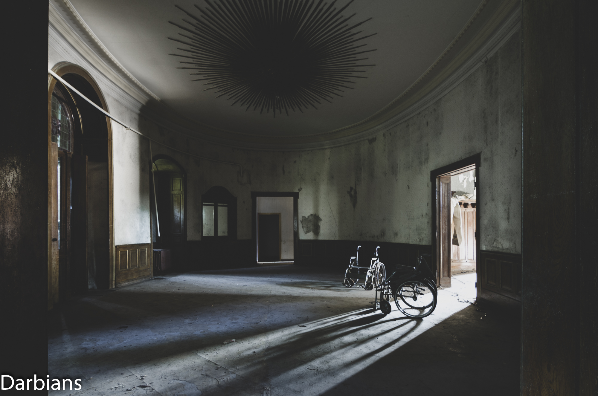 House Of Wheelchairs. Another angle of the oval room.