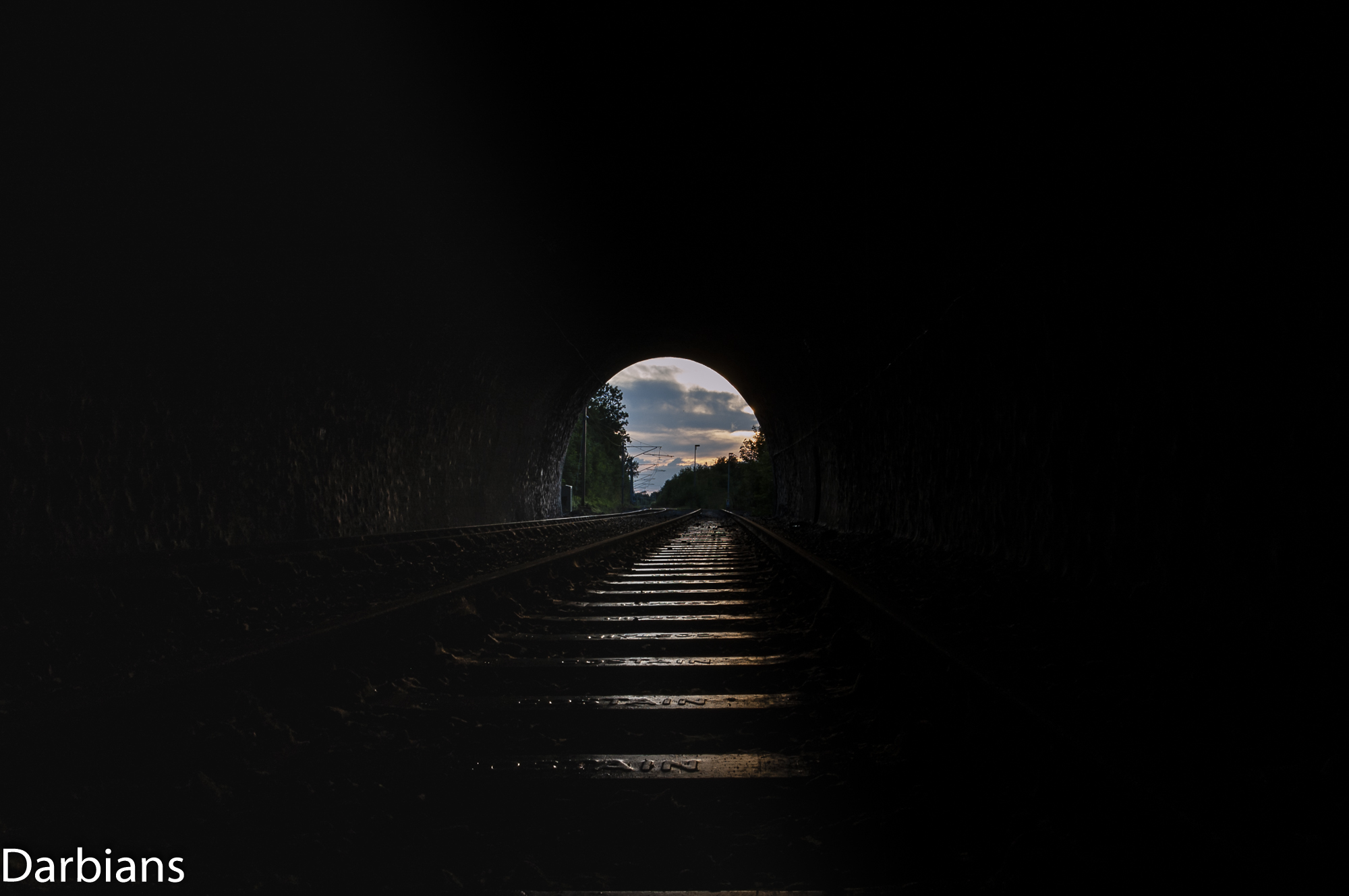 Old Dalby Test Track. Asfordby Tunnel, another sunset