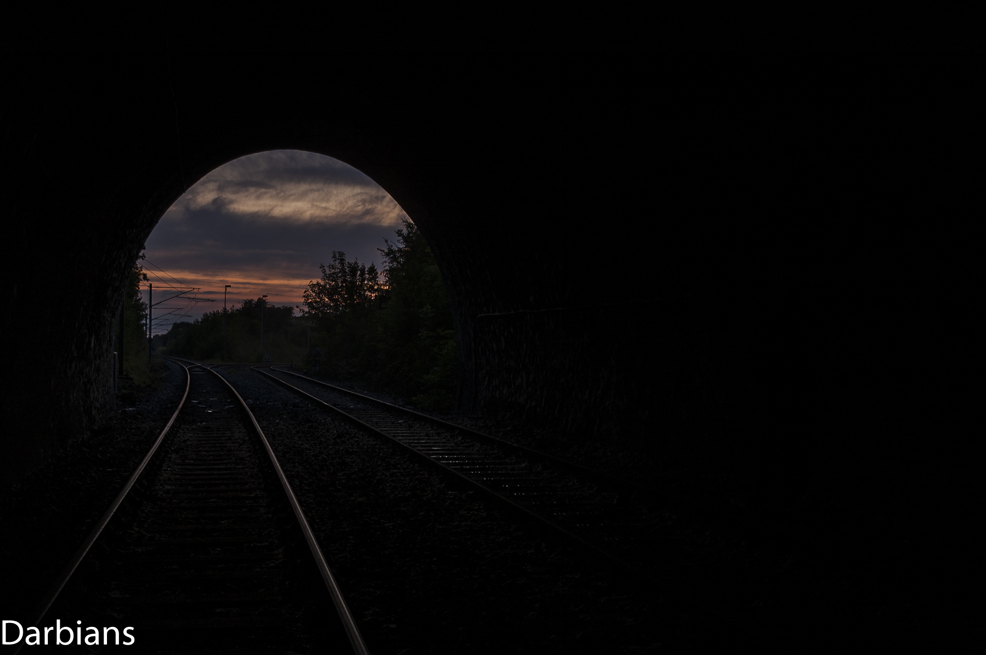 Old Dalby Test Track. Asfordby Tunnel, sunset