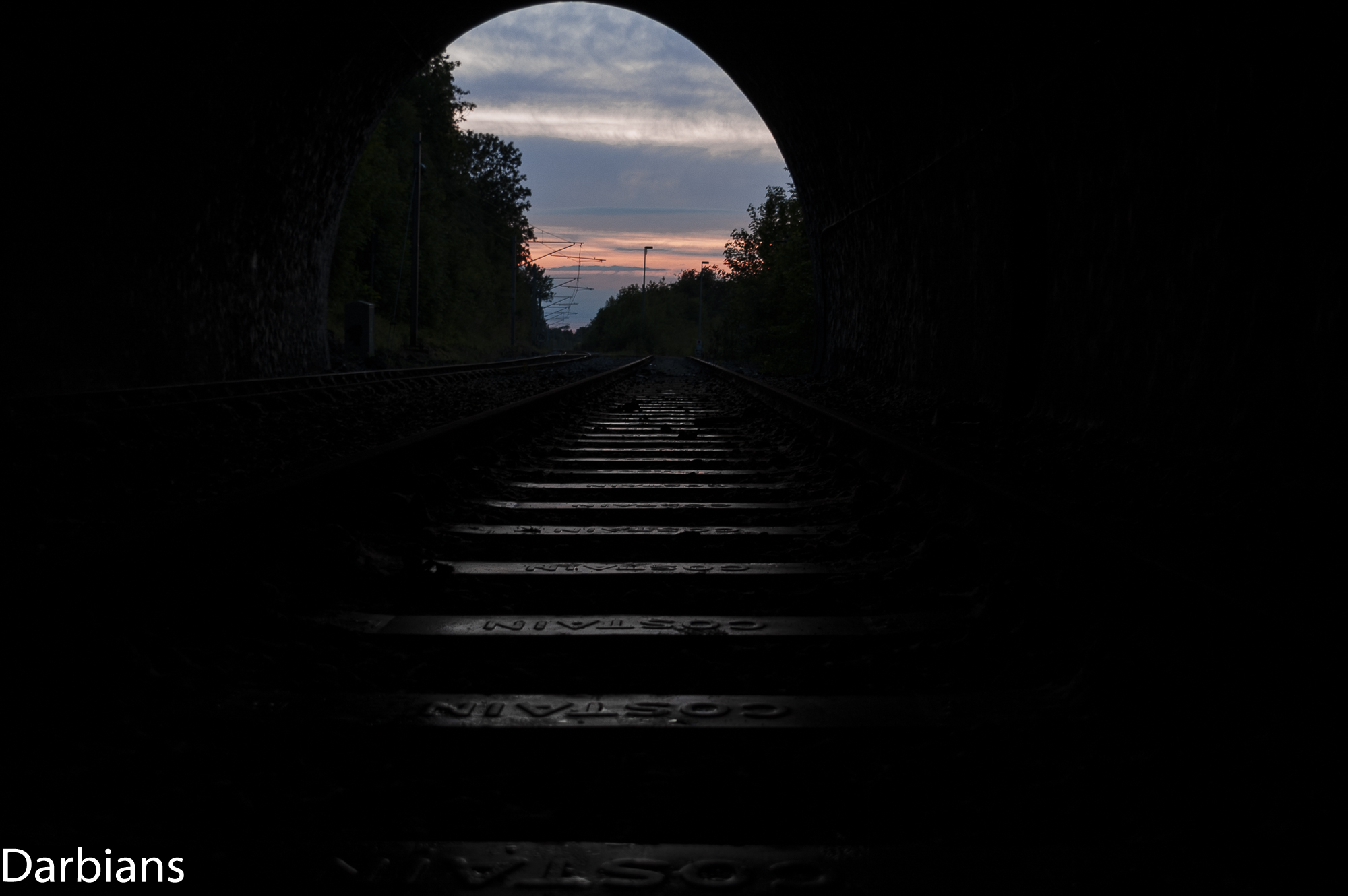 Old Dalby Test Track. Asfordby Tunnel. Sunset